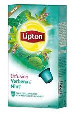 LIPTON Nespresso TEA 40 X Capsules /Pods/Caps (4 X Boxes ) Verbena & Mint NEW