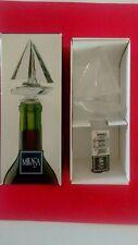 New listing Mikasa Sail Boat Regatta Crystal Glass Nautical Wine Bottle Stopper In Box