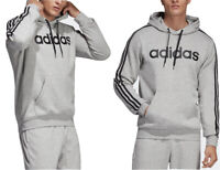 Adidas Ess 3-stripes Pullover Hoodie Men's Cosy Fleece Sweatshirt Size 2XL