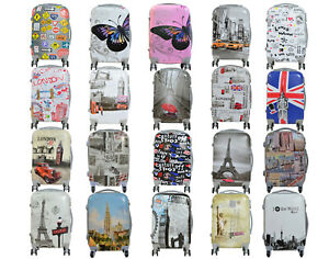 Maleta pequeña de cabina rígida de 4 ruedas fantasia varios equipaje mano viaje