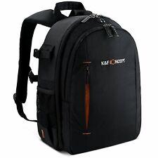 K&F Concept DSLR Camera Backpack Bag Case for Canon Nikon Sony Free Rain Cover