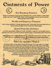 POWER OINTMENT, Book of Shadows Spell Page, Wicca, Witchcraft, Pagan