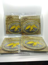4 Duck Commander yellow Art Glass Christmas Ornaments Holiday Duck Dynasty