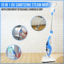 Homesmart Steam Mop Cleaner Kitchen Bathroom Sweeper UV Desk Lamp White Blue