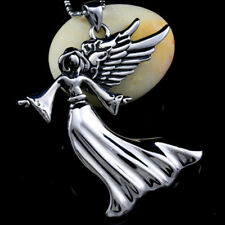 Men's Wing Angel 316L Stainless Steel Pendant Necklace Chain P7-7