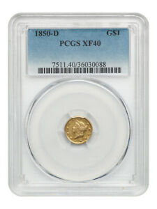 1850-D G$1 PCGS XF40 - Underrated Issue - 1 Gold Coin - Underrated Issue