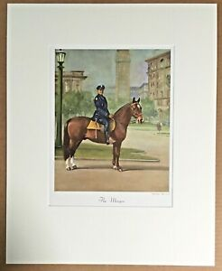 """Vintage Wesley Dennis Horse Print in 16x20 Mat, Ready to Frame, """"The Morgan"""""""