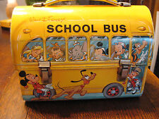 Walt Disney School Bus Metal Lunchbox