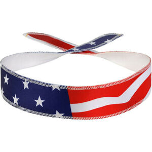 Halo Headband Sweatband Graphic Tie Version - American Flag