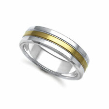 Multi-Tone Gold Wedding Precious Metal Rings without Stones