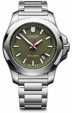 Victorinox Swiss Army Silver Green INOX Quartz Analog Men's Watch 241725.1
