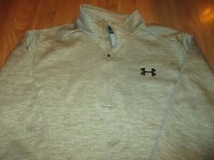 MINT MENS UNDER ARMOUR FLEECE LINED 1/4 ZIP PULLOVER SIZE L LARGE