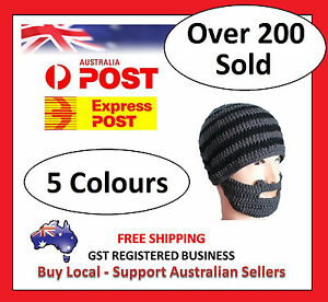 Beard Beanie HAT - Head and Face Warmer - Hand Made Snowboarding Camping Skiing