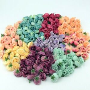 10 pcs Mini Silk  Artificial Flower Heads Fake Rose Wedding Home Party Decor
