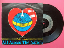 RADIO HEART - feat. GARY NUMAN - ALL ACROSS THE NATION / River, nbr-1 VG+