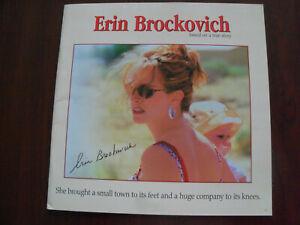Pressbook for ERIN BROCKOVICH Julia Roberts Aaron Eckhart 2001 Oscar Winner