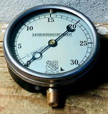 Large 5 Vintage Brass Ashcroft Pressure Gauge Dated Dec 1910 Antique Steampunk