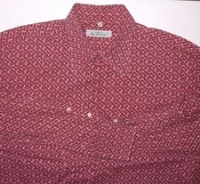 Ben Sherman Shirt XL Ditsy Floral Pink Blue Long Sleeve Button Down Collar