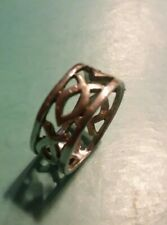 Fish Ichthus Religious Band Sterling Silver 925 RING Size 4 1/2 ((B22))