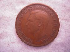 1948 KING GEORGE VI BRONZE HALF PENNY COIN, VF, Nice Coin, Original Patina