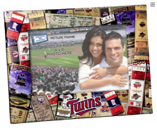 More details for minnesota twins 4x6 inch picture frame, ticket collage style