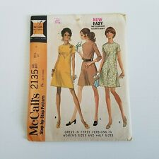 McCall's Sewing Patterns Dress Women's Size 18 1/2 Bust 41 Vtg 1969 Complete