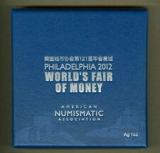 2012 China Philadelphia World's Fair Of Money UNC One Ounce Silver Coin