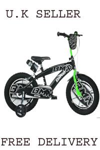 Children's bike Dino Bikes BMX black / green: 16 inch