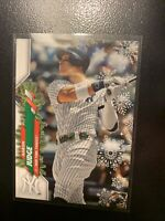 2020 Topps Holiday Aaron Judge Rare Variation SSP Holly Belt HW38 Yankees