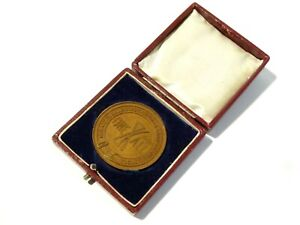 1912 SEAHAM HARBOUR Horticultural Show Bronze Cased Medal SNOWBALL #SH1