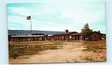 *Old Fort Caspar Casper Wyoming Protected North Platte River Bridge Postcard C05