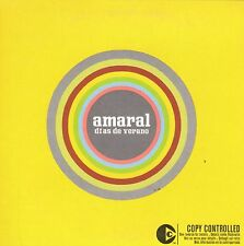 AMARAL DIAS DE VERANO CD SINGLE PROMO CARPETA CARTON