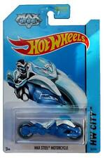 2014 Hot Wheels #85 HW City Tooned I Max Steel Motorcycle white/blue