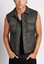 Guess Dillon Denim Vest In Suspension Wash Coated Finish Size M