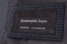 Current Ermenegildo Zegna Sport Coat Size 46R In Green & Black Check Trofeo Cash