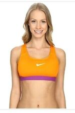 Nike Medium Support Sports Bra Orange Purple Size XS unpadded  650831 868
