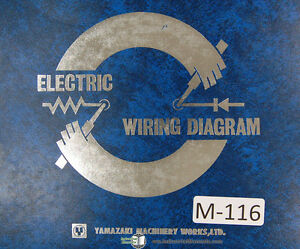 Mazak Yamazaki Mazatrol Electrical Circuit Diagrams, QS20 Chucker  Manual 1983