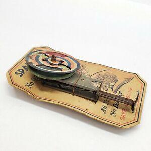 Rare Vintage SPARKLER NO. 95 Patriotic Safe Spinning Metal Toy NOS U.S.A.