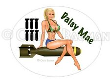 Sexy Bomber Girl DAISY MAE Country Girl busty bomber girl pin-up sticker decal
