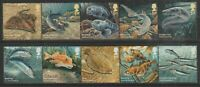 GB 2014 Sustainable Fish Stamps SG 3609-3618 Full Set MNH