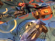 Disney Pixar Cars McQueen Twin size flat sheet & Cars 2 Fleece throw