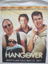 THE HANGOVER zac bradley cooper mike tyson funny comedy promotional t-shirt XL