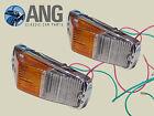 MGB, MGB-GT, MGC, MGC-GT LUCAS L677 FRONT INDICATOR LAMP ASSEMBLIES x 2