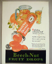 Beech-Nut Orange Fruit Drops PRINT AD  1930