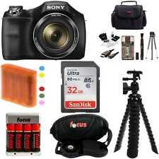 Sony DSC-H300/B 20.1MP Digital Camera 32GB Accessory Kit