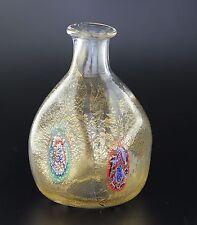 Bottiglia Collezione Vetro di Murano Murrina Foglia Oro Made in Italy