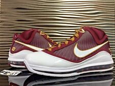 """2010 Nike Air Max LeBron 7 """"Christ The King"""" DS Mens Size 12 CTK Red/White/Gold"""