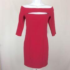 Asos Womens Dress Off The Shoulder Body Hugging Size 6 Dark Pink Dressy