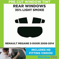 Pre Cut Window Tint - Renault Megane 5-door Hatchback 2008-2014 - 35% Light Rear