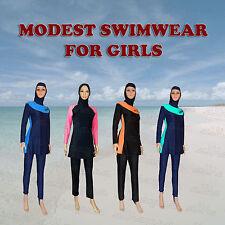 Nasce modesta Burkini Costumi da bagno bambini Burqini Costume da bagno musulmani beachwear età 8-12